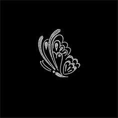 #HotFix Diamante #Butterflies #Transfers iron on #motif for t-shirts bags -