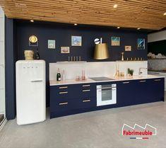 Design Moderne, Bleu Marine, Sweet Home, Kitchen, Home Decor, New Houses, Kitchen Modern, Midnight Blue, Cucina