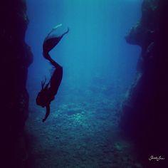 Sereia mergulho