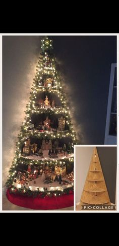 My 3 D Wall Christmas Tree Diy 3 D Wall Light Christmas