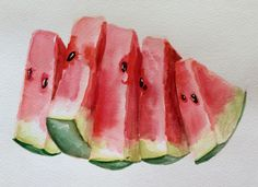 Watercolor watermelon!