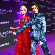 Derek we're supposed to be posing together! @zoolander and I in our @maisonvalentino looks for tonight's #Zoolander2 New York premiere! #barbiezoolander #barbie #barbiestyle by barbiestyle