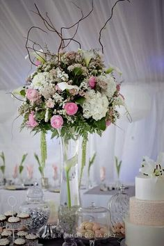 Elegant Floral Arrangement  ~ wedding reception