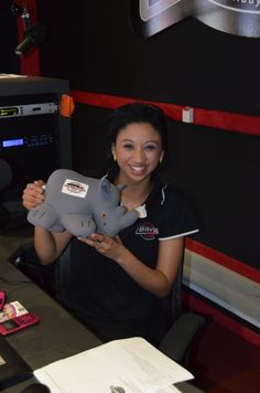 Rhino and the radio presenter at bayfm! Presents, Gifts, Favors, Gift