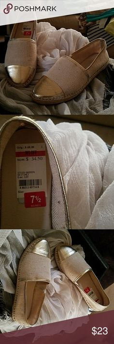 Steve Madden Flat Loafer Tan & Gold loafer Steve Madden Shoes Flats & Loafers