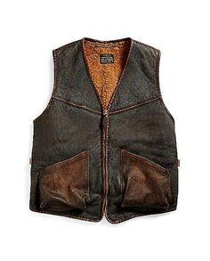 RRL Shearling Full-Zip Vest