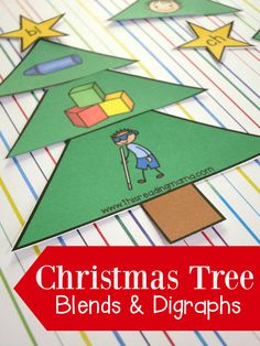 Initial blends and digraphs can be very tricky for some kids. Typically, kids are ready for blends and digraphs after they have a solid grasp on single beginning sounds, ending sounds, and short vowel {CVC} words. Just like our short vowel Christmas trees, I created some puzzles or sorts with all the initial blends and …