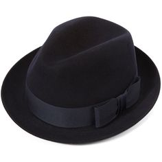British Style Fedora Hats for Men Autumn Winter Casual Trilby Hat Casual Dark Blue Very Soft