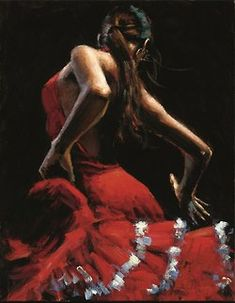limited edition giclée of Flamenco Dancer II painting by Fabian Perez. Fabian Perez, Tango, Local Art Galleries, Spanish Dancer, Dance Paintings, Chiaroscuro, Illustrations, Art Oil, Lady In Red