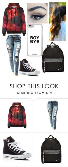 """Untitled #234"" by mama-seokjin92 ❤ liked on Polyvore featuring WithChic, Converse and NIKE"