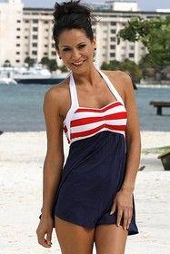 Ujena Z297 Sailor Girl Swim Dress