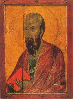 The Apostle Paul, icon of a Deesis tier from Ubisi, 14th century.