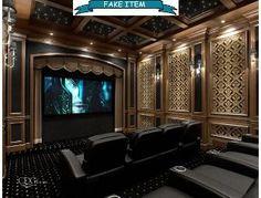 80 Home Theater Design Ideas For Men - Movie Room Retreats Home Theatres 80 Heimkino-Design-Ideen fü Home Theater Furniture, Home Theater Decor, Best Home Theater, Home Theater Design, Home Theater Seating, Home Decor, Basement Furniture, Home Theatre, Installation Home Cinema