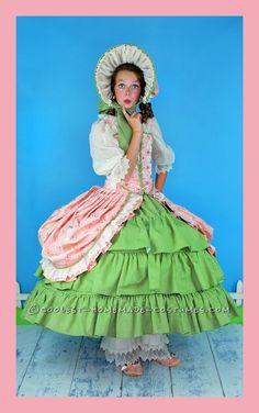 Frilly Feminine Little Bo Peep Costume For Tween Girl