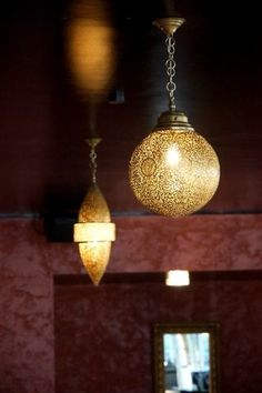 Lighting a lounge with Moroccan Pendant lamps or ceiling lights - mediterranean - wall sconces - CHRISTINE FREY