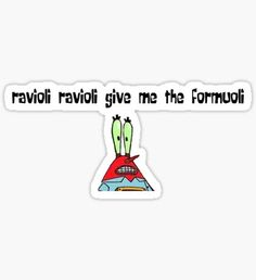 """spongebob ravioli"" Stickers by Stickers Cool, Bubble Stickers, Meme Stickers, Phone Stickers, Famous Tattoo Artists, Aesthetic Stickers, Sticker Design, Memes, Spongebob Painting"