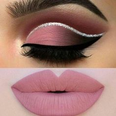 #makeuplove #eyebrows #cutcreasemakeup #beauty #pink #dramatic