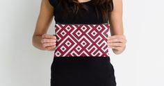 Geometric pattern studio pouch by allgirls. #pouch #bag #geometric