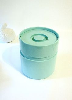 Mid Century HELLER Ice Bucket - AQUA Blue