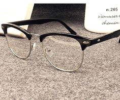Glasses Without Frame On Top : Free shipping Metal half-rim frame glasses retro men ...