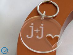 Love Monogrammed Key Chain by jwgifts on Etsy, $20.00