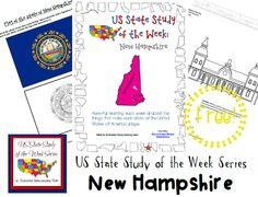 Come see Week 31 of the FREE US State Study of the Week Weekly Series and get your New Hampshire themed Pack. Us Geography, Geography Lessons, U.s. States, United States, History For Kids, Free State, Teaching Social Studies, Child Life, Lessons For Kids
