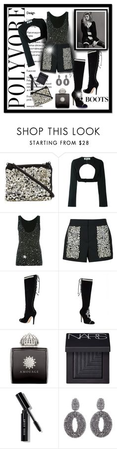 """Get your Sparkle On!"" by surfergirl3915-1 ❤ liked on Polyvore featuring Vera Wang, Barbara Bui, Marchesa, AMOUAGE, NARS Cosmetics, Bobbi Brown Cosmetics and Oscar de la Renta"
