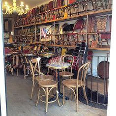 Grock in Paris, where to shop for French café chairs & bistro tables