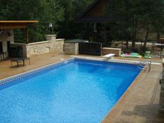 Performance Pool And Spa Custom In Ground Landscaping Stamped Concrete