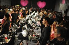 A general view of atmosphere backstage at the 2012 Victoria's Secret Fashion…
