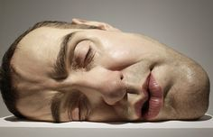 Ron Mueck - Made of resin, fiberglass, silicone, and other materials. Hyperrealistic and unexpected scales. #art #sculpture
