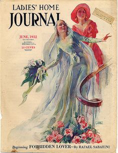 Tossing the bouquet ~ cover illustration for the Ladies' Home Journal, June 1932