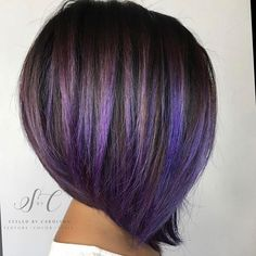 frosted purple hair