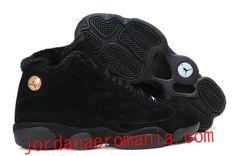 Acheter Chaussures 2012 New Jordans 13(XIII) Fluffy Flints All Noir  JordanAeroMania.com