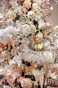 Beautiful Ballerina Doll on a Ballet Themed Christmas Tree by Goodwill idea in Nutcracker Ballet Noel
