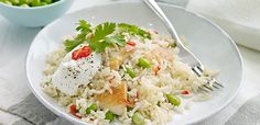 Chicken and Mixed Bean Pilaf  M&S recipe link Fragrant chicken with mixed beans and rice served with Greek yogurt and fresh coriander