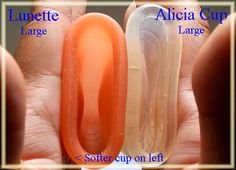 Comparing the BODY of the Lunette 2 to Alicia 2 #mycupsonfleek #menstrualcup #menstrualcups