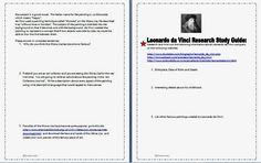 """Gina Kennedy-Brown, """"Putting the Life Back in Education, One Lesson at a Time."""": FUN """"MONA LISA"""" and """"Leonardo da Vinci"""" ART HISTORY ENRICHMENT PROJECT"""