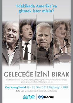 Annenize haber verin :)) 18-22 Ekim'de #gencdavos Zirvesiyle Amerika'dasınız. Nasıl mı? #oneyoungworld http://on.fb.me/Kp01G0
