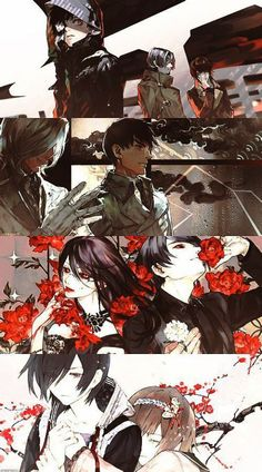 End cards of Tokyo Ghoul Season 1. This was my fav part of the ending to every episode. And the song too. Crazy talented.