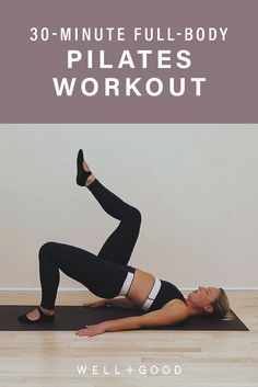 This 30 minute full body Pilates session is a low impact way to get your sweat on Pilates Workout Routine, Pilates Training, Pilates Challenge, 30 Minute Workout, Toning Workouts, Barre Workout, Workout Plans, Butt Workout, Exercises