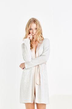 Women'secret - Bata algodón con detalles satén