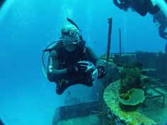 An Atlanta Scuba Diver traveling with SeaVentures does some Wreck Diving in Cozumel.