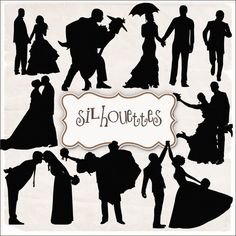 SUPER FREEBIES Blog: Freebies Wedding Silhouettes Kit