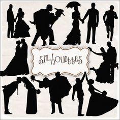 SUPER FREEBIES Blog: Freebies Wedding Silhouettes Kit