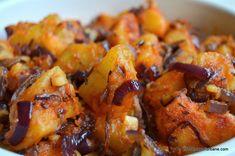 cartofi rantaliti cu ceapa paprika si chimen Vegan Recipes, Cooking Recipes, Bacon, Good Food, Food And Drink, Gluten, Meals, Chicken, Vegetables