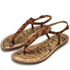 ea3a2abdbf07 Gigi Leopard Flat Sandals - SAM EDELMAN Cute Sandals