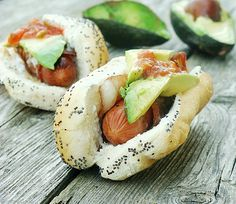Bacon Wrapped Tex-Mex Hot Dogs with Avocado and Salsa