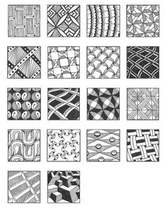 ZENTANGLE PATTERNS grid 10 | Flickr - Photo Sharing!