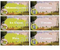 Shrek Food Labels